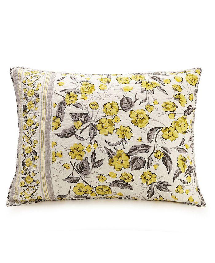Jessica Simpson - Hummingbird Blooms Yellow Standard Sham