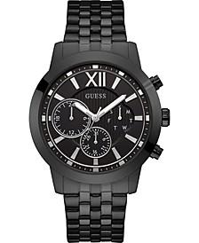Men's Black Stainless Steel Bracelet Watch 45mm