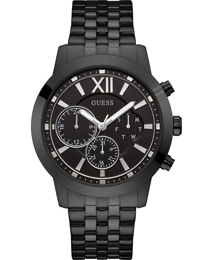 GUESS - Men's Black Stainless Steel Bracelet Watch 45mm