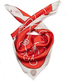 Nautical Knots Silk Bandana