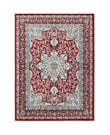"Haven Lane Hal06 Red 5'2"" x 7'2"" Area Rug"