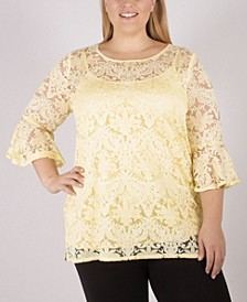 Women's Plus Size Lace Tunic