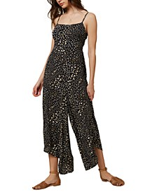 Juniors' Jaladra Printed Wide-Leg Jumpsuit