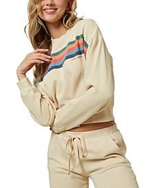 Juniors' Cotton Fleece Sweatshirt