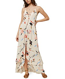 Juniors' Ryder Lace-Up Maxi Dress