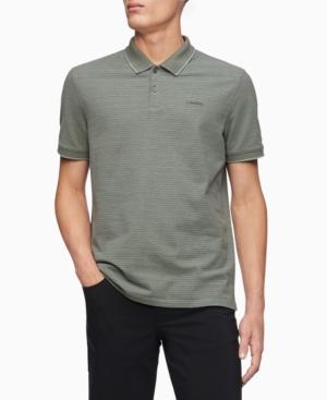 Calvin Klein Men's Birdseye Striped Polo