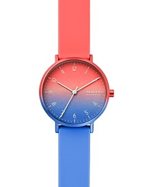 Women's Aaren Kulor Pink & Blue Ombré Silicone Strap Watch 36mm