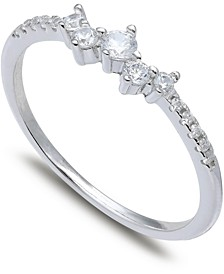 Cubic Zirconia Scatter Band in Sterling Silver, Created for Macy's