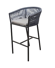 Braxtyn Outdoor Bar Chair with Sunbrella® Cushion, Created for Macy's