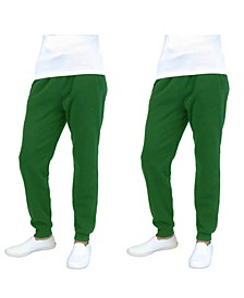 Men's 2-Packs Slim-Fit Fleece Jogger Sweatpants