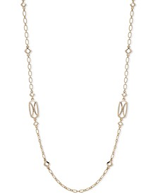 """Gold-Tone Openwork 42"""" Station Necklace"""