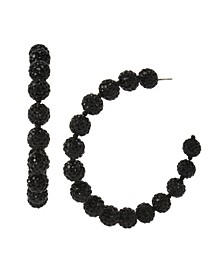 New York Caviar Beaded Hoop Earrings