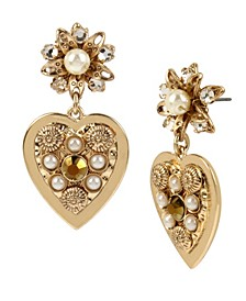 New York Heart Drop Earrings