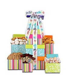 B-Day Treats Gift Tower