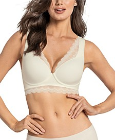 Soft Lightly-Lined Lace Underwire Bra- Deep Coverage Bra