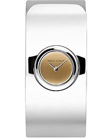 Women's Hooked Stainless Steel Bangle Bracelet Watch 18mm
