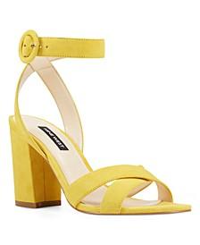 Nikki Block-Heel Sandals