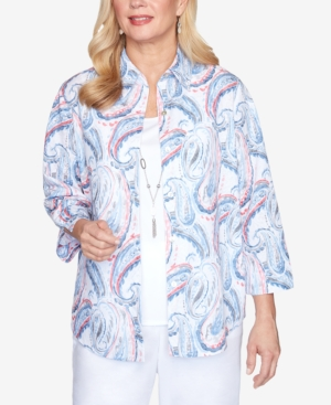 Women's Missy Bella Vista Paisley Two For One Top