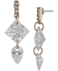 Pavé & Cubic Zirconia Drop Earrings
