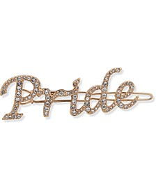 Gold-Tone Crystal Pride Hair Barrette