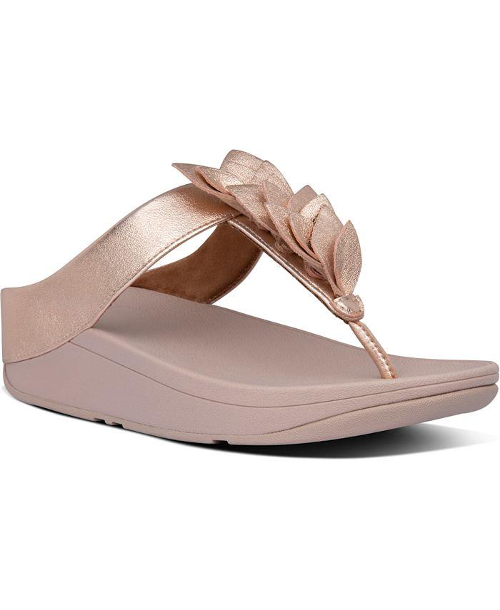FitFlop - Women's Fino Leaf Thong Sandals