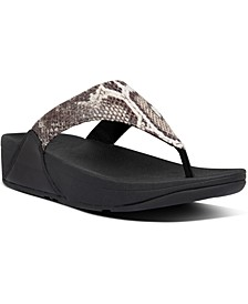 Women's Lulu Snake-Print Thong Sandals