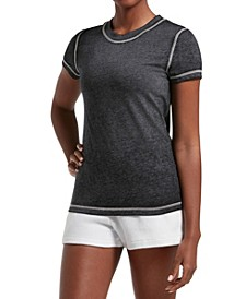 Women's Short Sleeve Lounge Sleep Tee in Biowash