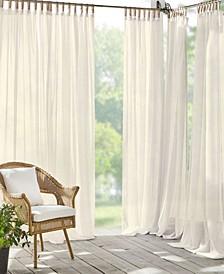 """Darien Sheer 52"""" x 95"""" Indoor/Outdoor Tab Top Curtain Panel"""