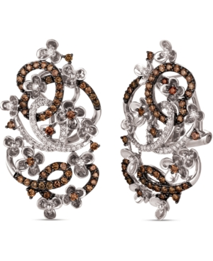 Le Vian Crazy Collection Diamond Fancy Scroll Floral Earrings (1-1/3 ct. t.w.) in 14k Rose Yellow or