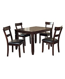 Homelegance Ante Dining Room Table and Chairs, Set of 5
