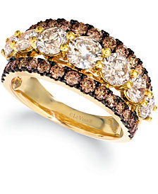 Le Vian® Diamond Statement Ring (3 ct. t.w.) in 14k Rose, Yellow or Rose Gold