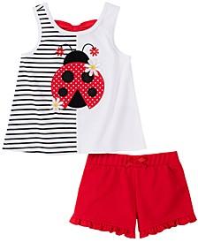 Toddler Girls 2-Pc. Ladybug Tank Top & Shorts Set