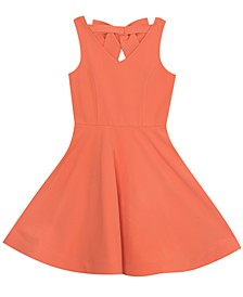 Big Girls Bow-Back Skater Dress