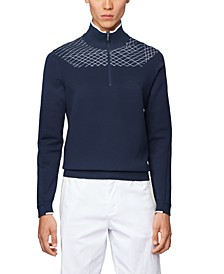 BOSS Men's Zaden Zip-Neck Sweater