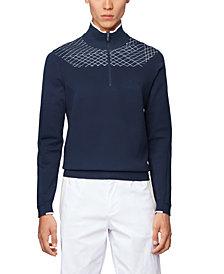 BOSS Men's Zaden Zip-Neck Sweater