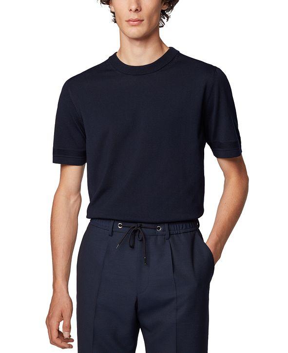 Hugo Boss BOSS Men's Imatteo Short-Sleeved Knitted Sweater