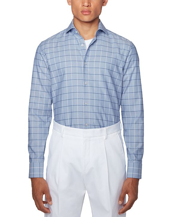 Hugo Boss BOSS Men's Jason Checked Slim-Fit Shirt