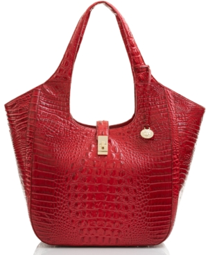 Brahmin Carla Melbourne Embossed Leather Tote