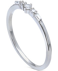 Cubic Zirconia Stacking Ring in Sterling Silver, Created for Macy's