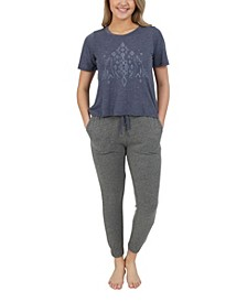 Women's Batik Tee and Jogger Set