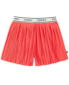 Little Girls Pleated Shorts