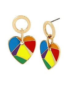 Rainbow Heart Drop Earrings