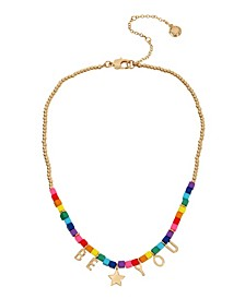 "Rainbow Be You Choker Necklace, 15.5"" + 3"" Extender"