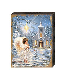 by Dona Gelsinger Angel at The Chapel Wooden Block