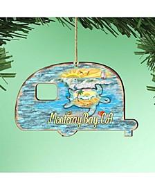 Camper Woodsy Shaped Magnet Wooden Ornaments Set of 2
