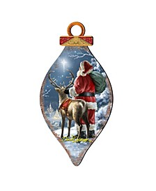by Dona Gelsinger Starry Night Santa Ornament and Cone Ornament, Set of 2 Each