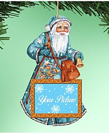 Coastal Santa Picture Ornament Set of 2