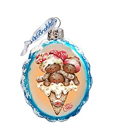 Joy Cone Babies Hand Painted Glass Ornament
