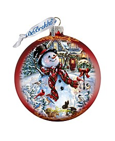 An Old Fashioned Christmas Glass Ornament Limited Edition by Donna Gelsinger