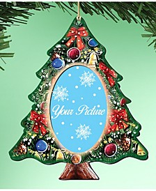 Christmas Tree Picture Frame Ornament Set of 2